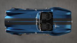 Modellazione 3D Shelby Cobra vista top