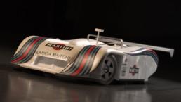Modellazione 3D Lancia LC1 vista frontale