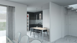 Rendering Villa 1 inquadratura cucina
