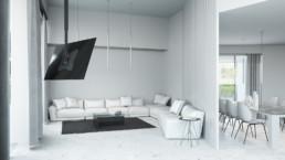 Rendering Villa 1 inquadratura zona living 1