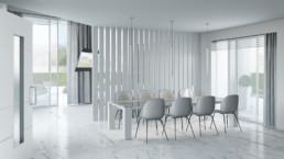 Rendering Villa 1 inquadratura zona living 2